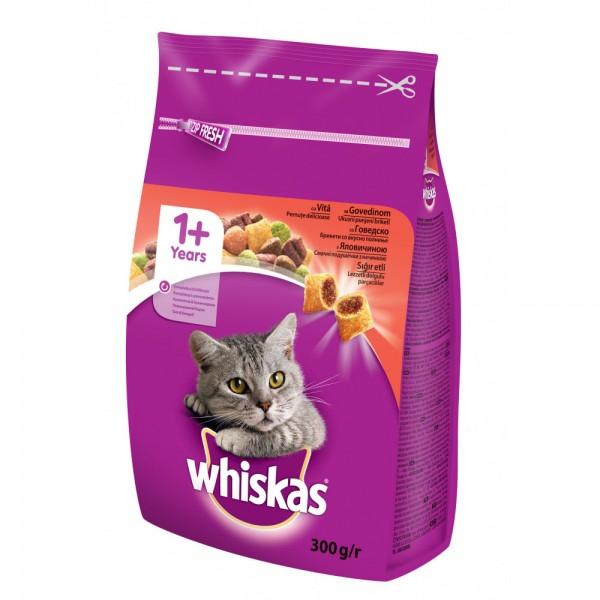 Whiskas Suva hrana Adult govedina, šargarepa i kroketi 14 Kg