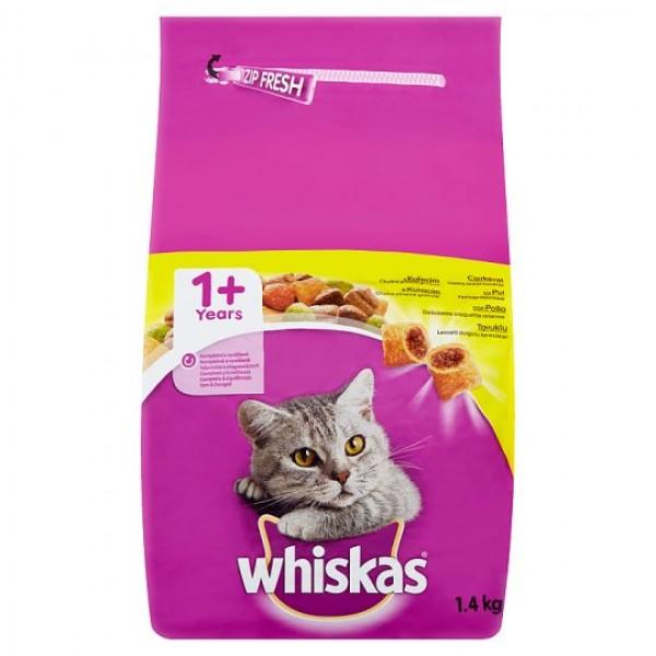 Whiskas Briketi Adult Suva hrana piletina, povrće i kroketi 1.4 Kg