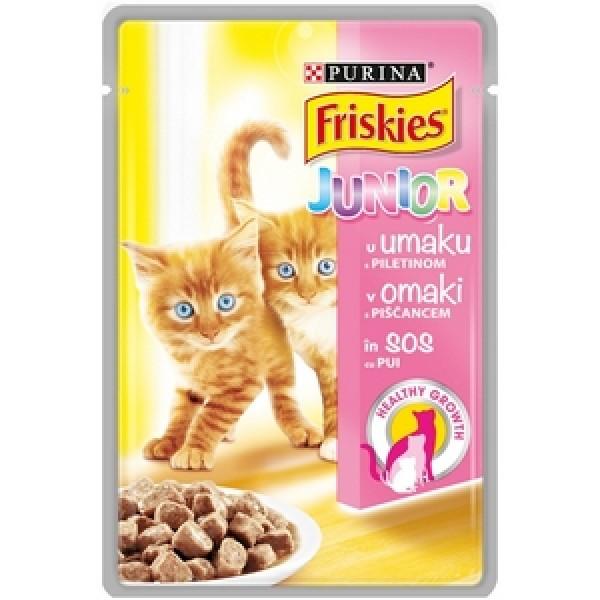 Friskies  Delices Kesica za mačiće JUNIOR s piletinom i šargarepom u sosu 100g