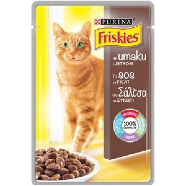 Friskies Delices Vlažna hrana Kesica za mačke Adult s džigericom u sosu 100g