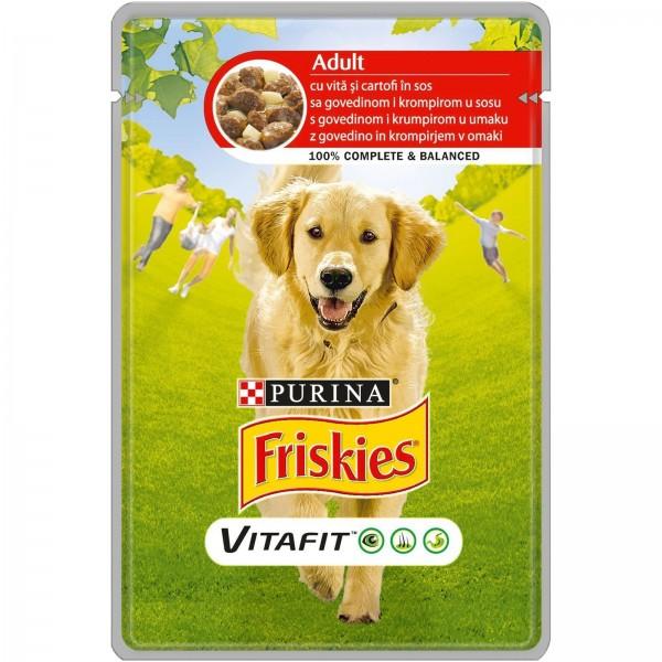 Friskies Vlažna hrana Kesica za pse Adult Govedina i Krompir u sosu 100g