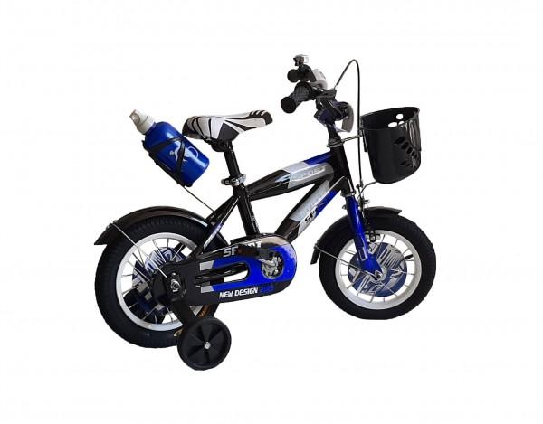 Bicikla za decu sa pomoćnim točkovima 12'' Model 706 ''Sport Division'' plavo-crna