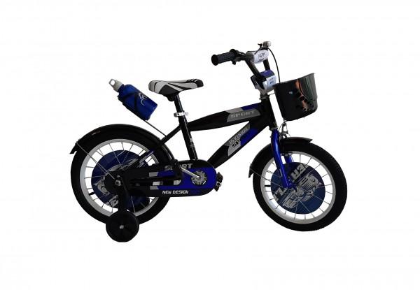 Bicikla za decu sa pomoćnim točkovima 16'' Model 707 ''Sport Division'' plavo-crna