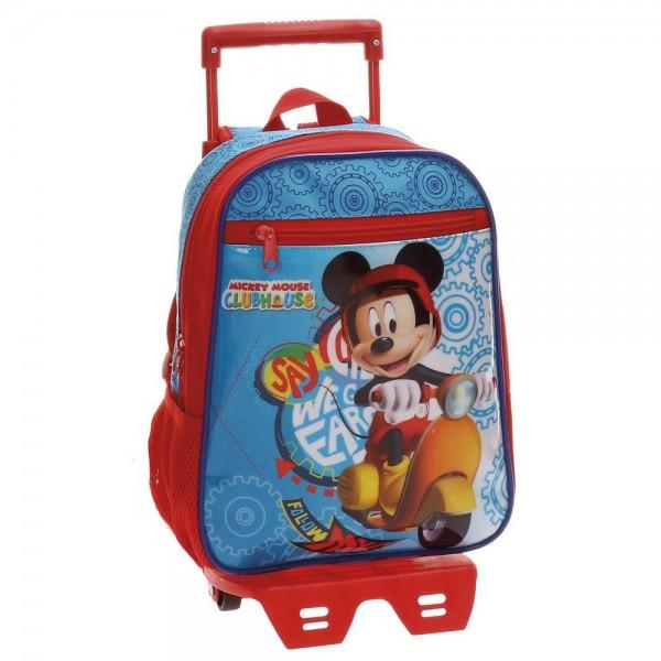 Dečiji školski Disney ranac sa točkićima 28cm ''Mickey Vespa'' kat.br. 40.221.N1