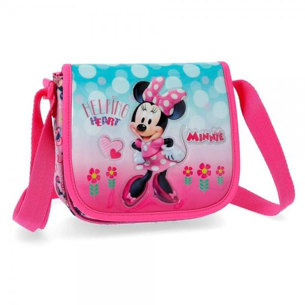 Disney dečija torba na rame sa preklopom ''Minnie heart'' kat.br.23.754.61