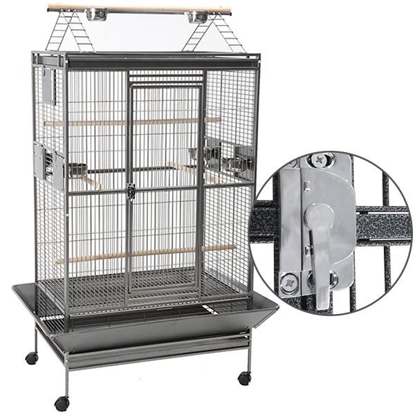 Savic kavez za ptice Hamilton Playpen, tamno-sivi