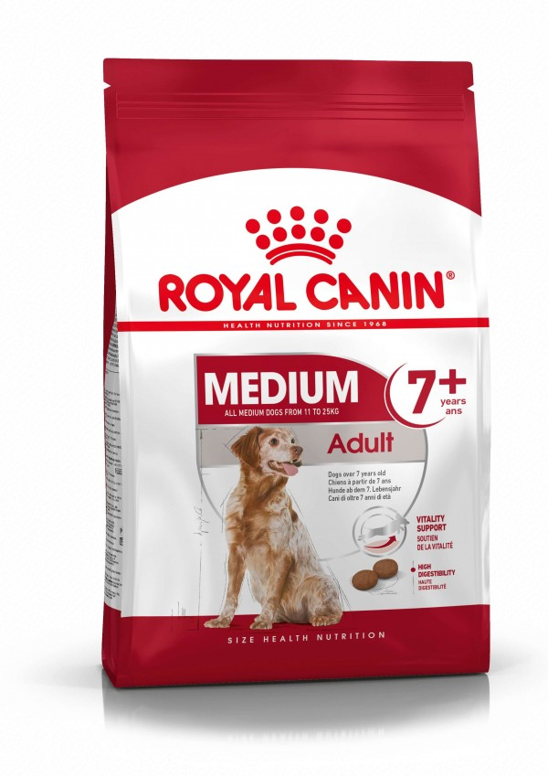 Royal Canin Medium Adult +7 - Suva hrana za pse 15kg.