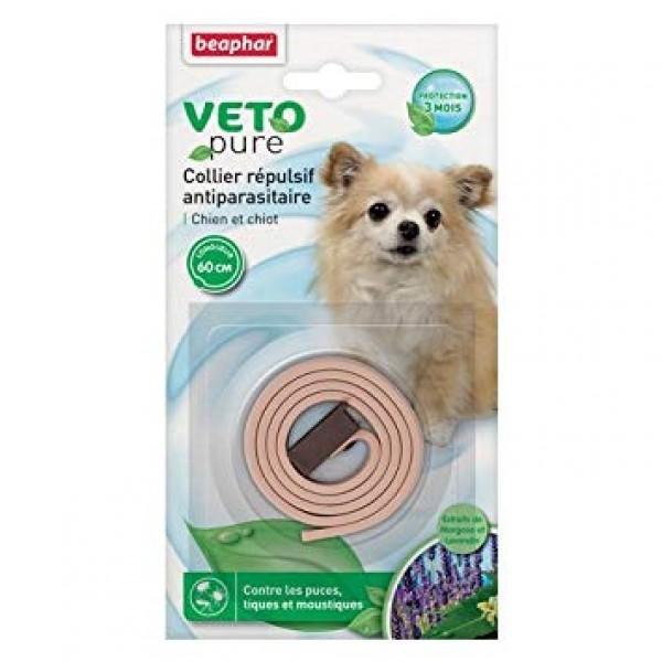 Beaphar Veto pure dog Neem beige - Ogrlica za pse protiv buva, krpelja i komaraca (bež boja)