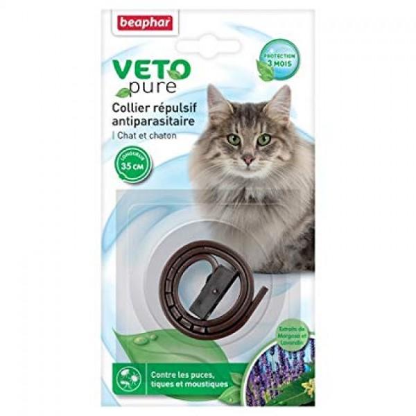 Beaphar Veto pure dog Neem brown - Ogrlica za mačke i mačiće protiv buva, krpelja i komaraca (braon boja)