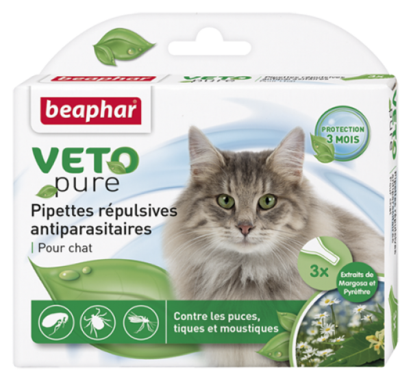 Beaphar Bio spot on cat - Ampula za mačke protiv buva, krpelja i komaraca