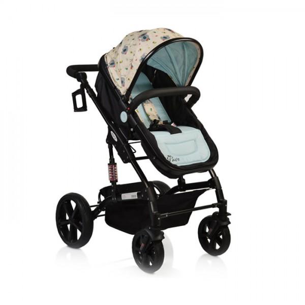 Kolica za bebe ''Pavo''  Blue (crni ram)