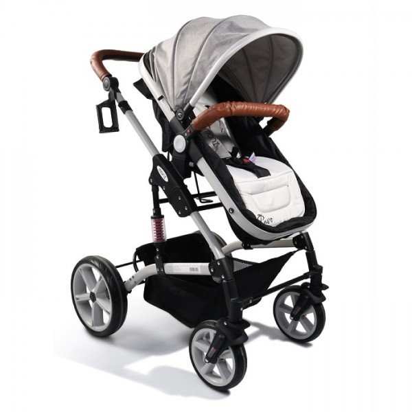 Kolica za bebe ''Pavo'' Grey Linen