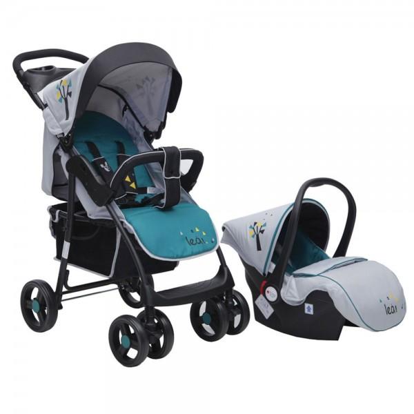 Kolica za bebe ''Lea'' 2 in 1 Tirkizna, set sa autosedištem