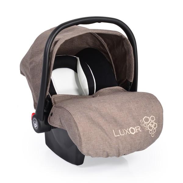 Auto-sedište, nosilljka za bebe sa adapterom  ''Luxor''  Bež  0-13 kg