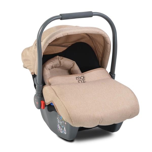 Auto-sedište, nosilljka za bebe sa adapterom  ''Sofie'' Bež  0-13 kg 2019