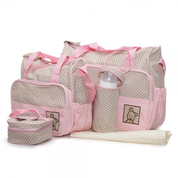 Torba za mame i bebe ''Stella'' 4 u 1, Pink