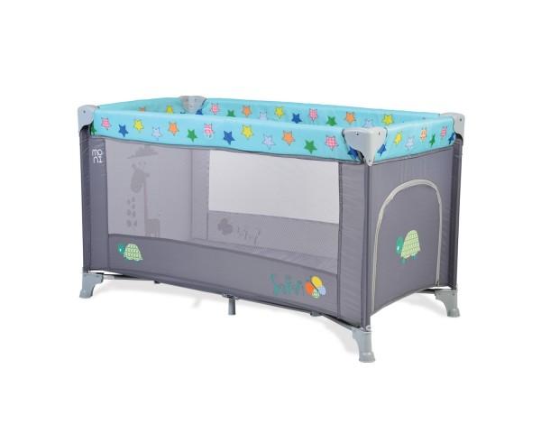 Prenosivi krevetac za bebe ''Safari'' plavo-sivi