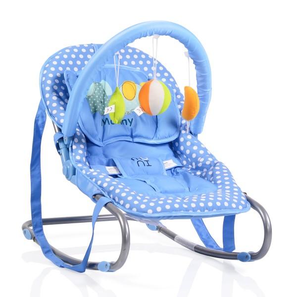 Ležaljka - Majčino krilo za bebe ''Manny'' Plava