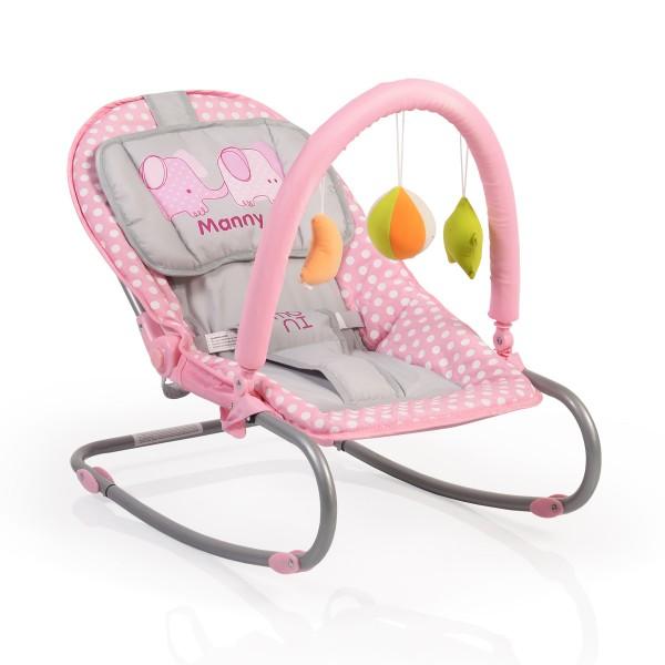 Ležaljka - Majčino krilo za bebe ''Manny'' Pink