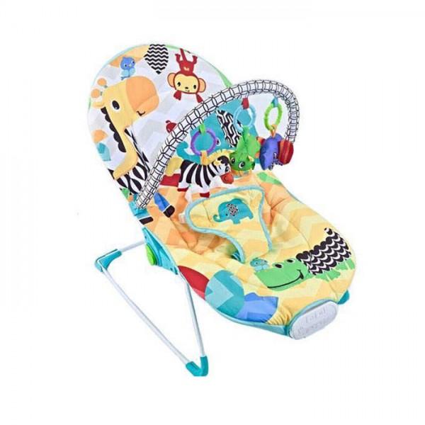 Ležaljka - Majčino krilo za bebe Žuta sa muzikom i vibracijom