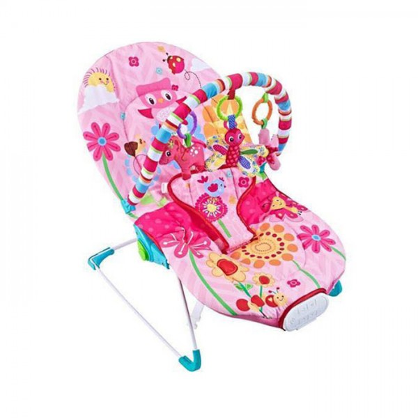Ležaljka - Majčino krilo za bebe Pink sa muzikom i vibracijom
