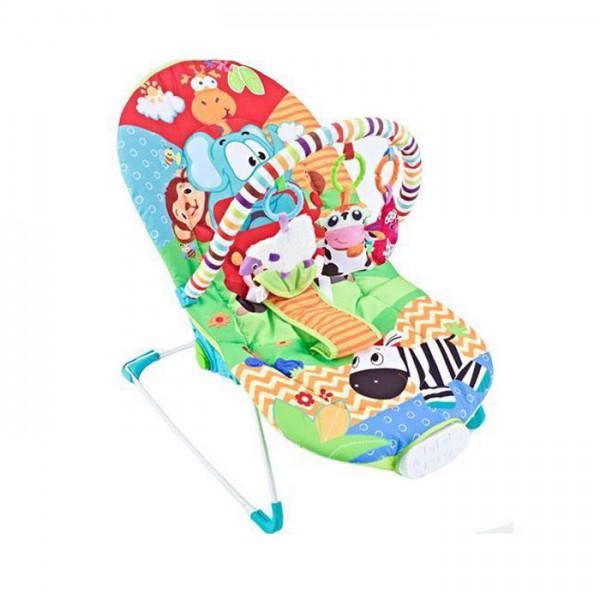 Ležaljka - Majčino krilo za bebe Plava sa muzikom i vibracijom