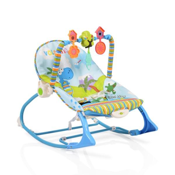 Ležaljka - Majčino krilo za bebe ''Jamaica'' Plava sa muzikom i vibracijom