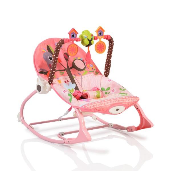 Ležaljka - Majčino krilo za bebe ''Jamaica'' Pink  sa muzikom i vibracijom