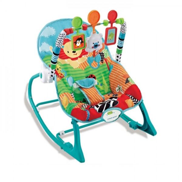 Ležaljka - Majčino krilo za bebe i decu do 18 kg Plava sa muzikom i vibracijom