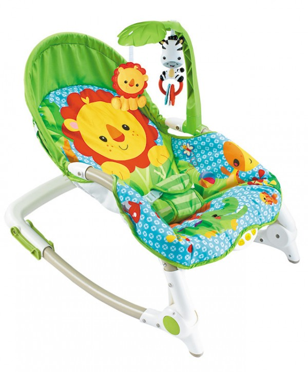 Ležaljka - Majčino krilo za bebe i  decu do 30 kg, Lion sa muzikom i vibracijom