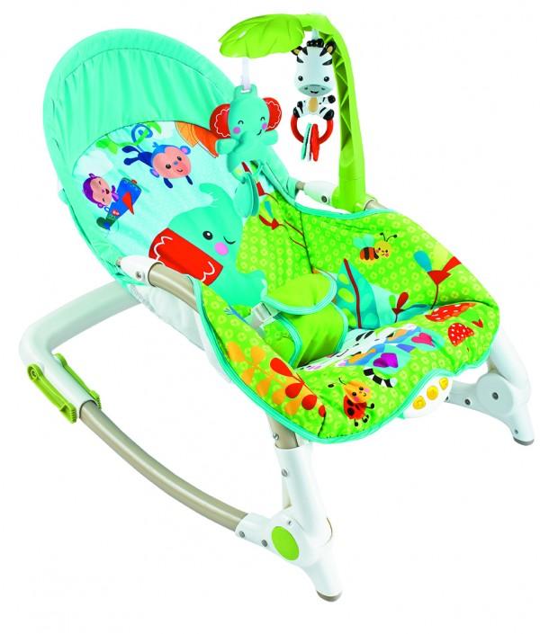 Ležaljka - Majčino krilo za bebe i  decu do 30 kg, Elephant sa muzikom i vibracijom
