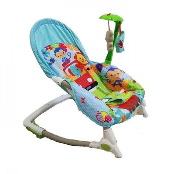 Ležaljka - Majčino krilo za bebe I decu do 30 kg, Plava sa muzikom i vibracijom