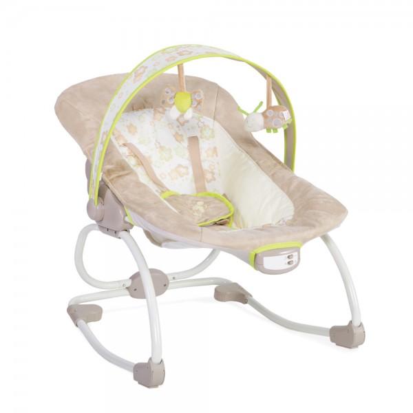 Ležaljka - Majčino krilo za bebe Merry Bež, sa muzikom i vibracijom