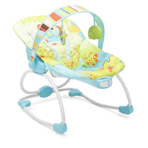 Ležaljka - Majčino krilo za bebe Merry Plava sa muzikom i vibracijom
