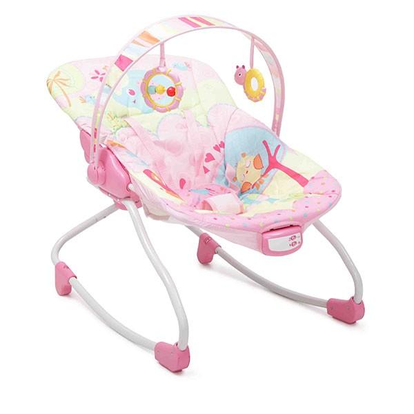 Ležaljka-  Majčino krilo za bebe Merry Pink sa muzikom i vibracijom