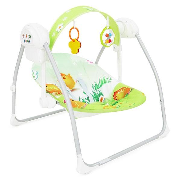 Ljuljaška - Majčino krilo za bebe ''Party'' Zelena sa adapterom