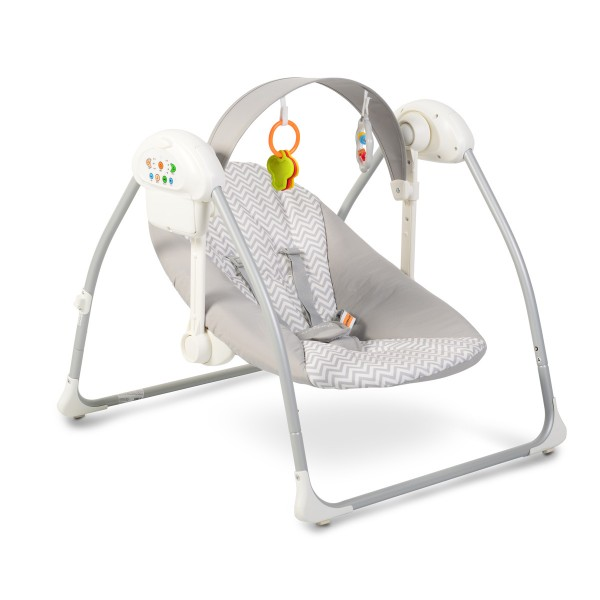 Ljuljaška - Majčino krilo za bebe ''Party'' Siva sa adapterom