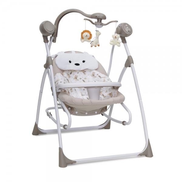 Ljuljaška - Majčino krilo za bebe ''Swing  Star'' Bež 2 in 1 sa daljinskim upravljačem