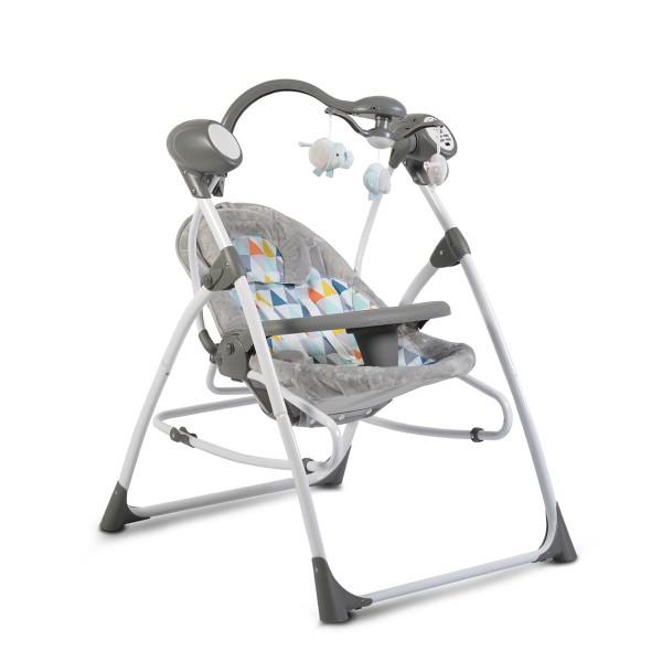 Ljuljaška - Majčino krilo za bebe ''Swing Star'' Mosaic 2 in 1 sa daljinskim upravljačem