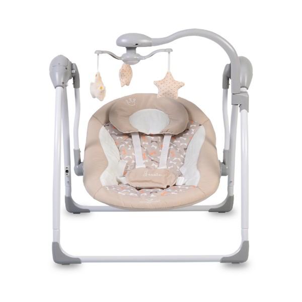 Ljuljaška - Majčino krilo za bebe ''Jessie'' Bež sa adapterom i daljinskim upravljačem