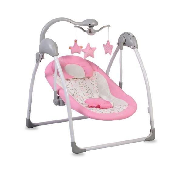 Ljuljaška - Majčino krilo za bebe ''Jessie'' Pink sa adapterom i daljinskim upravljačem