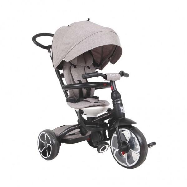 Tricikl-guralica za decu 6u1 QPlay ''Prime'' Sivi