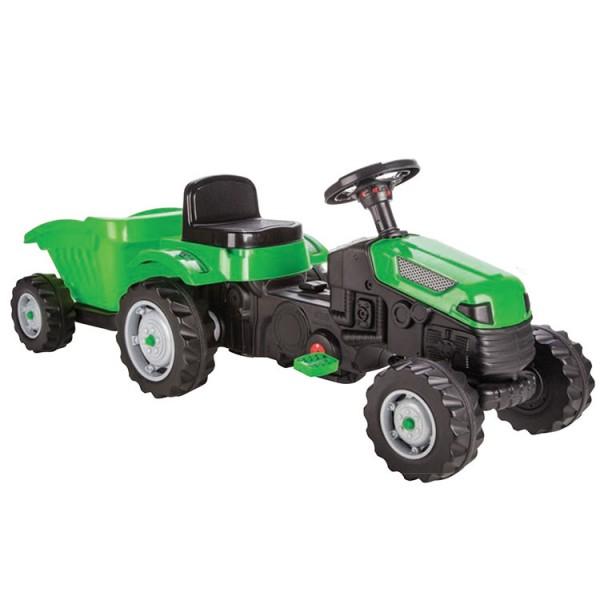 Dečiji traktor sa pedalama i prikolicom Pilsan ''Active'' Zeleni