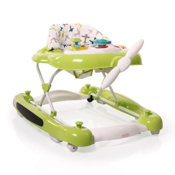 Dubak-klackalica za bebe 2u1 ''Plane'' Zelena