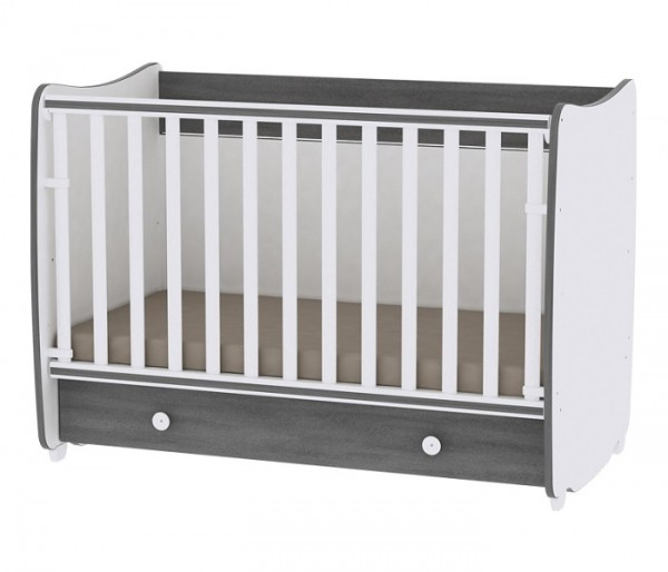 Krevetac za bebe ''DREAM'' Beli Vintage Sivi