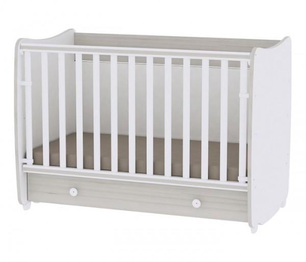 Krevetac za bebe ''DREAM'' Beli Light Oak