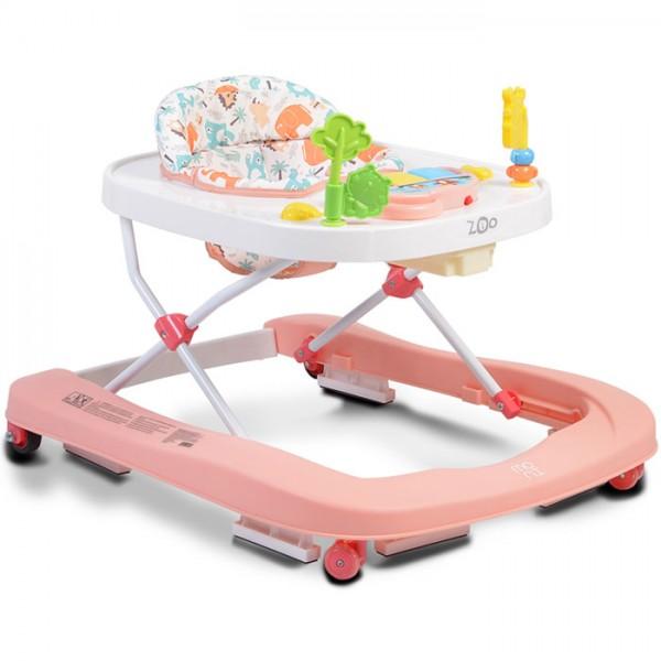 Dubak-guralica za bebe ''ZOO'' 2in1 Pink