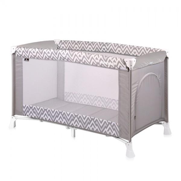 Prenosivi krevetac za bebe ''Verona'' Sivi Lines