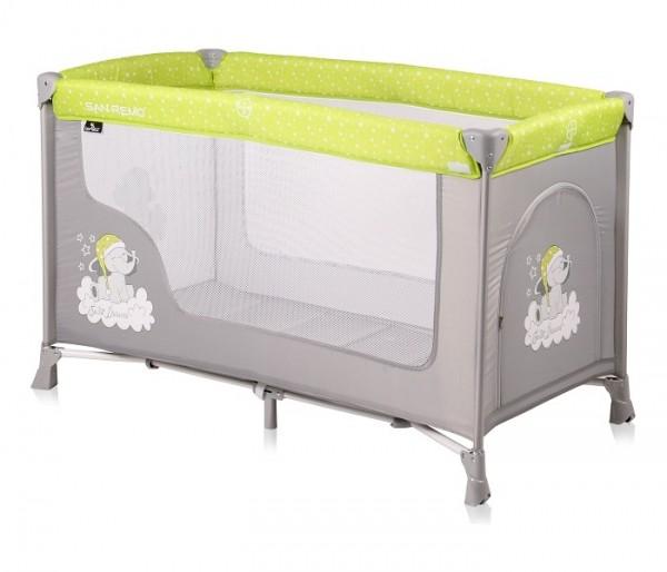 Prenosivi krevetac za bebe ''San Remo'' 1 Nivo Zelena i Siva ELEPHANTS