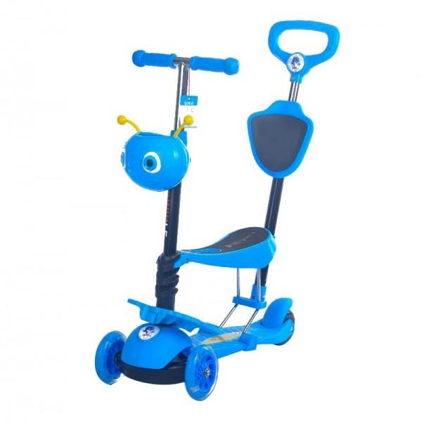 Trotinet za decu, 5/1 Model 652/1 ''Mrav'' Plavi sa svetlećim točkovima - NOVO -